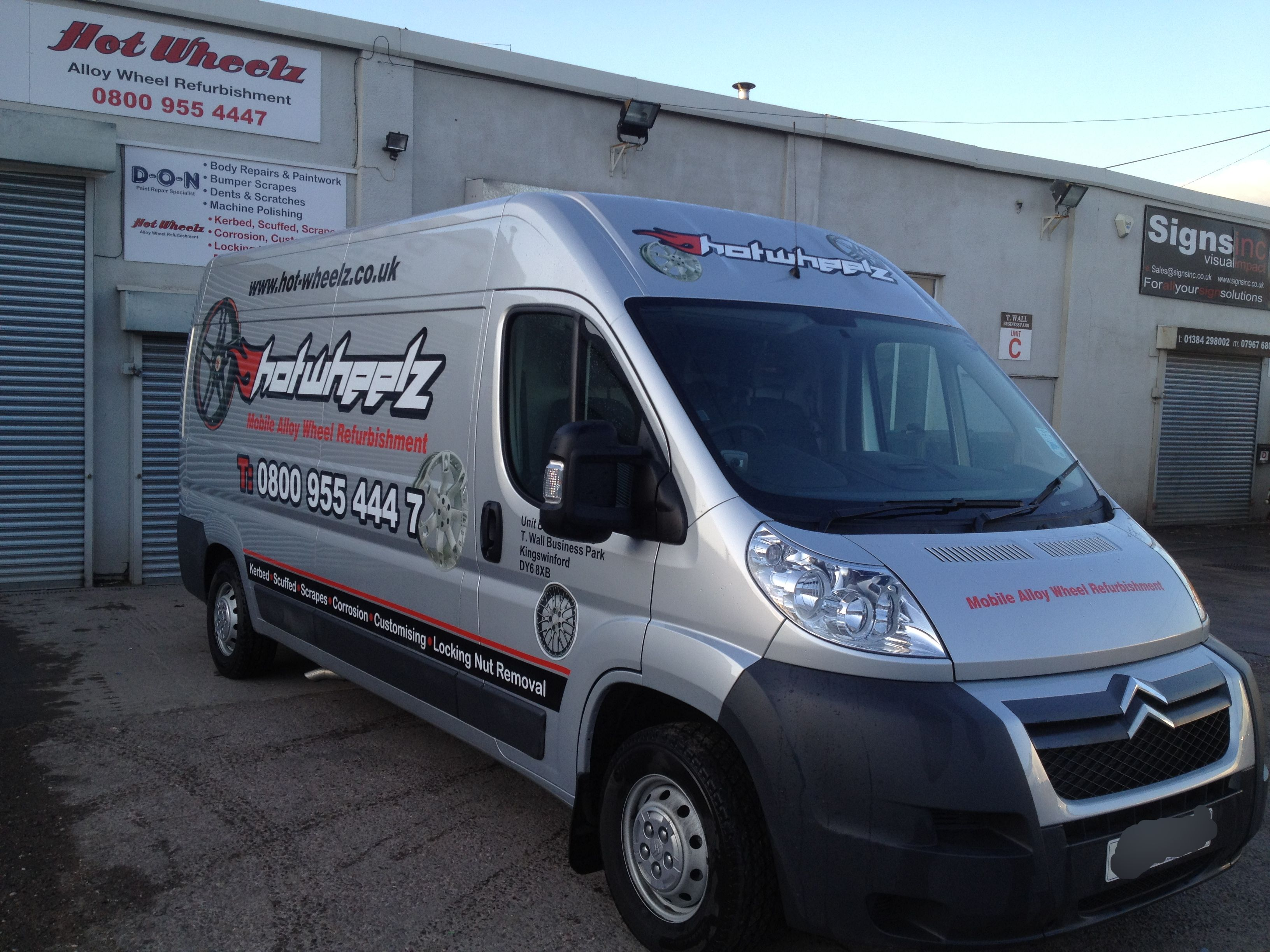 2010 new van and logo design and when we first moved in our premises